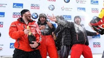 podium de bob à 4 masculin de la Coupe du monde de St-Moritz
