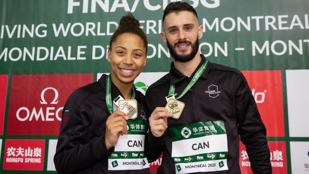 Les plongeurs canadiens ajoutent deux médailles d'or à la Série mondiale de Montréal