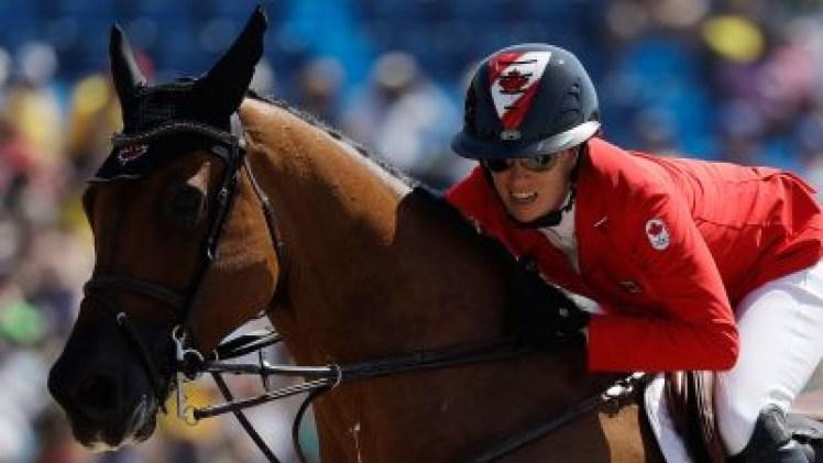 Amy Millar sur son cheval