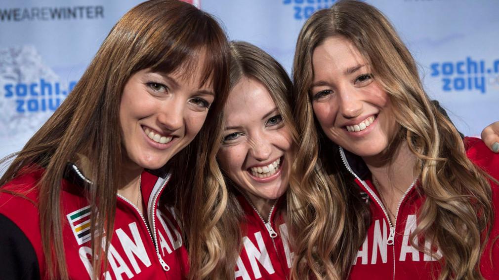 Maxime, Justine et Chloé Dufour-Lapointe