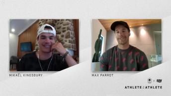 Mikaël Kingsbury et Max Parrot ont une discussion par vidéoconférence