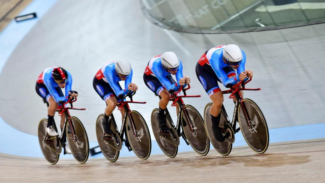 Équipe Canada de Vincent De Haître, Michael Foley, Jay Lamoureux, Derek Gee, Cyclisme sur piste poursuite par équipes
