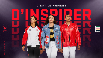 Trois athlètes portent la collection Équipe Canada