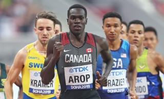Marco Arop mène le peloton