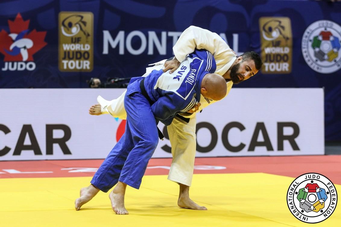 Mohab El Nahas lors d'un combat de judo