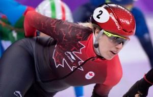 marianne St-gelais en action à PyeongChang 2018