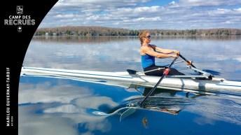 Marilou Duvernay-Tardif en action en aviron