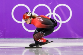 Kim Boutin en action sur la glace