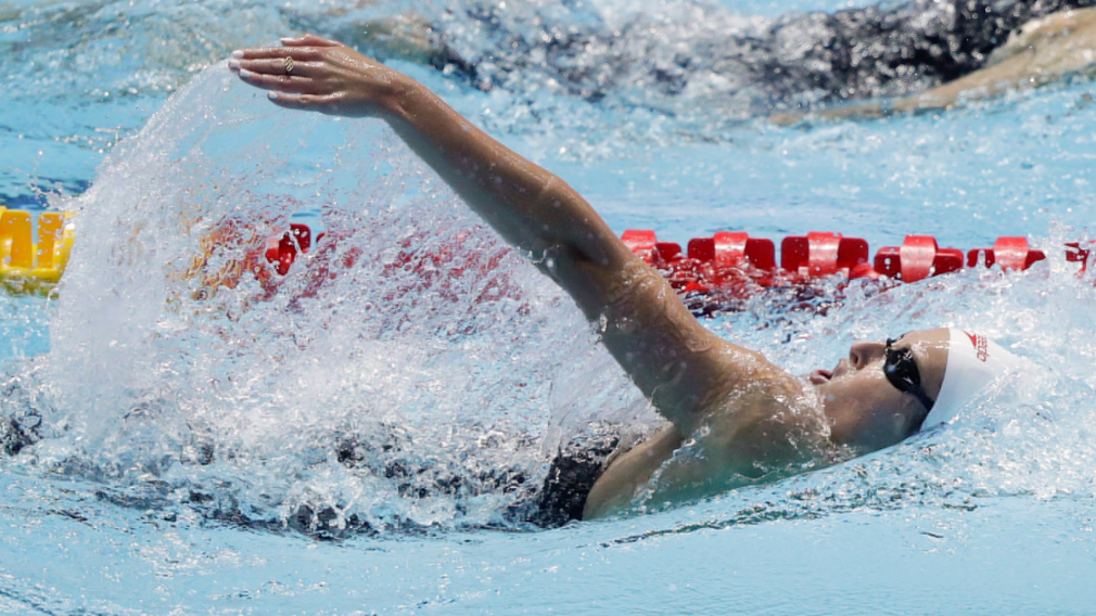 Huit records canadiens à l'International Swimming League