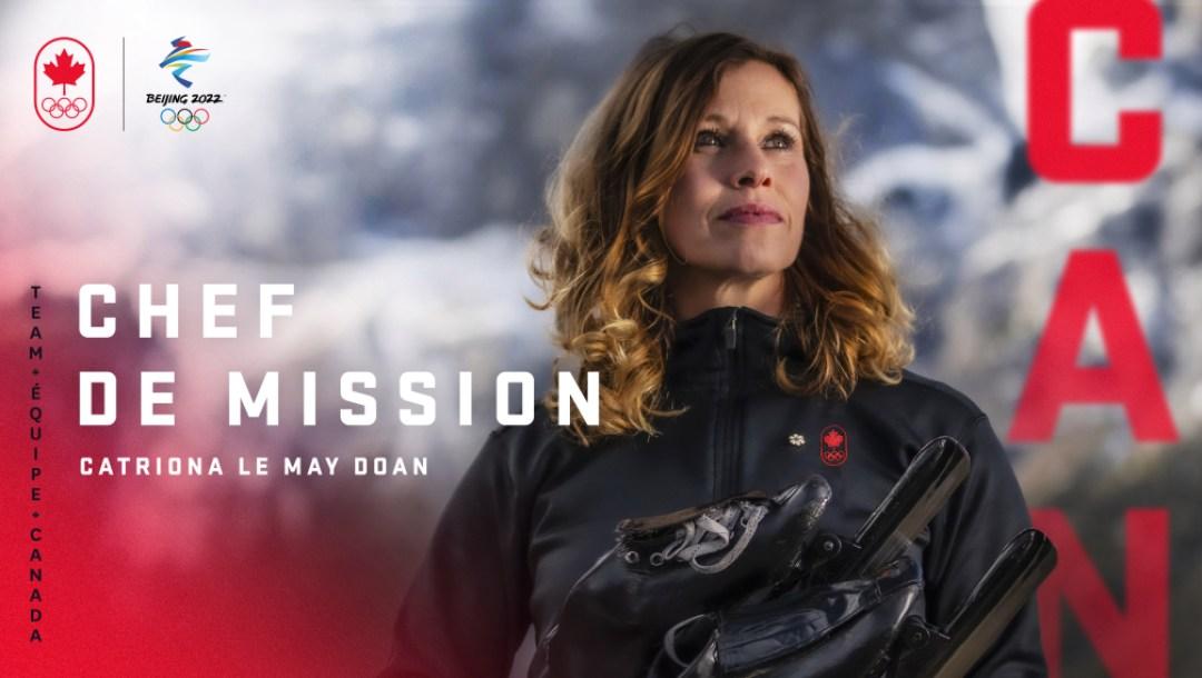 Équipe Canada Catriona Le May Doan Chef de Mission Beijing 2022