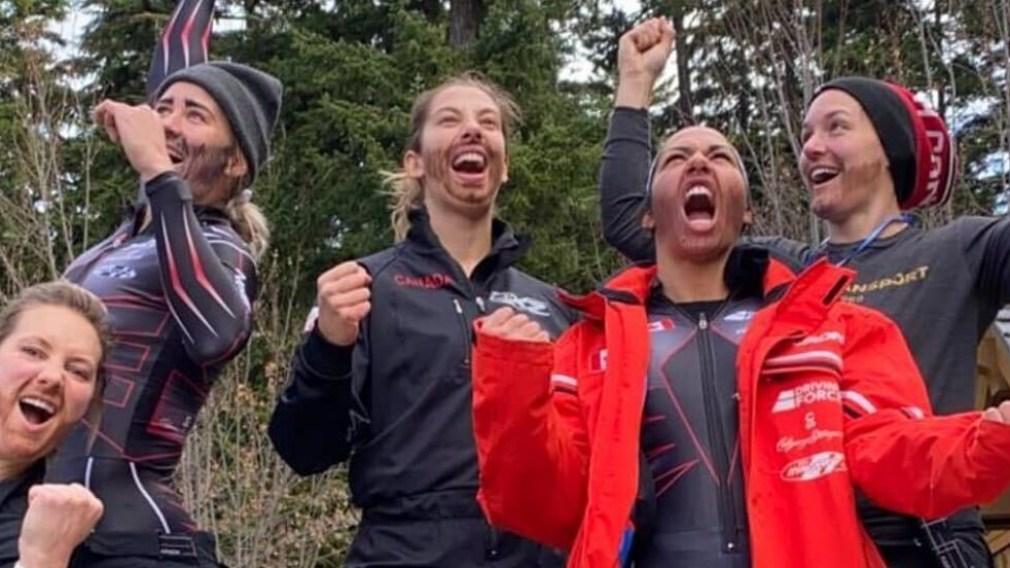 L'équipe féminine de Bobsleigh se déguise en team Kripps