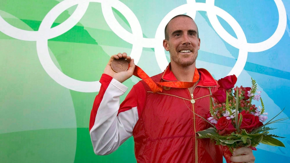 Tom Hall with his bronze medal from Beijing 2008