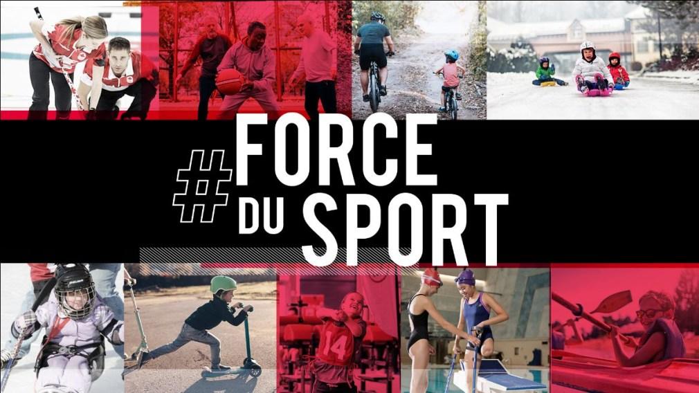Les Canadiens unis grâce à la #ForceDuSport