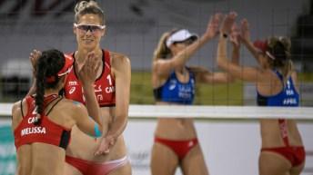 Équipe Canada - Sarah Pavan Melissa Humana-Paredes - volleyball de plage, Tournoi FIVB de Cancùn 2021