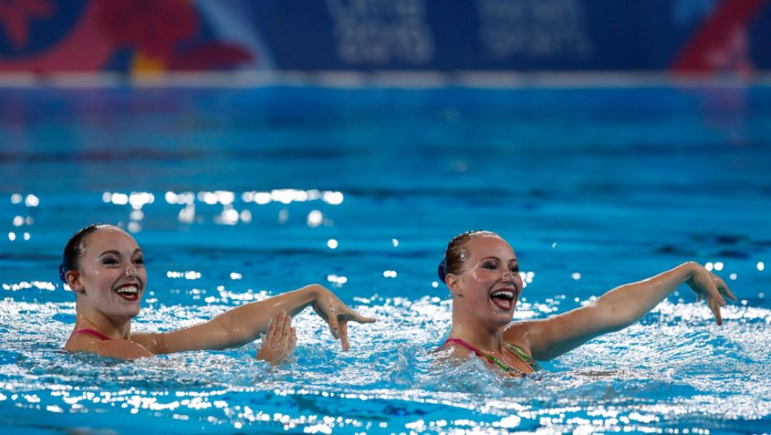 Équipe Canada Jacqueline Simoneau Claudia Holzner natation artistique Lima 2019