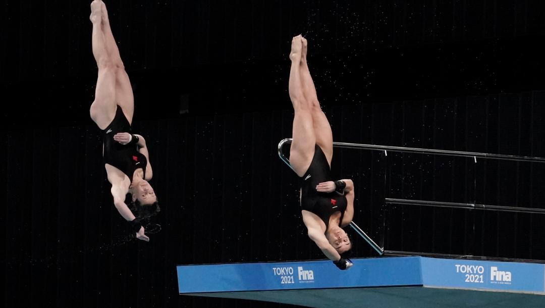 Équipe Canada - Meaghan Benefeito, Caeli McKay - plongeon - Coupe du monde FINA 2021 Tokyo