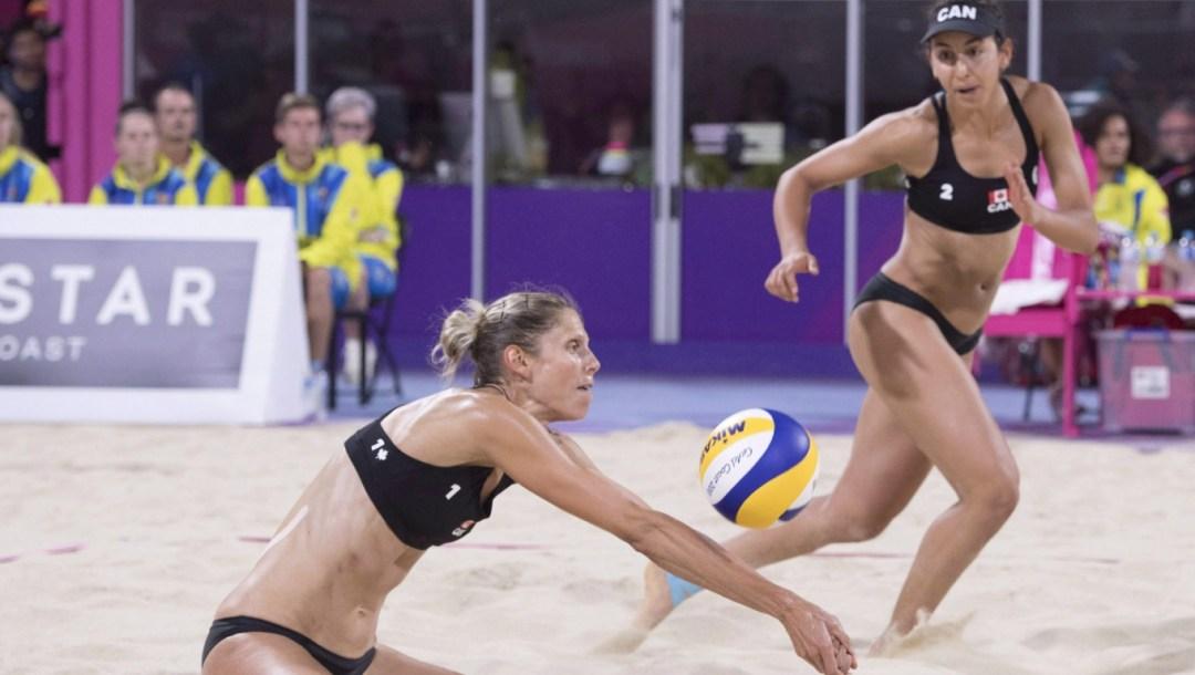 Équipe Canada - Sarah Pavan, Melissa Humana-Paredes, volleyball de plage, Jeux du Commonwealth 2018.