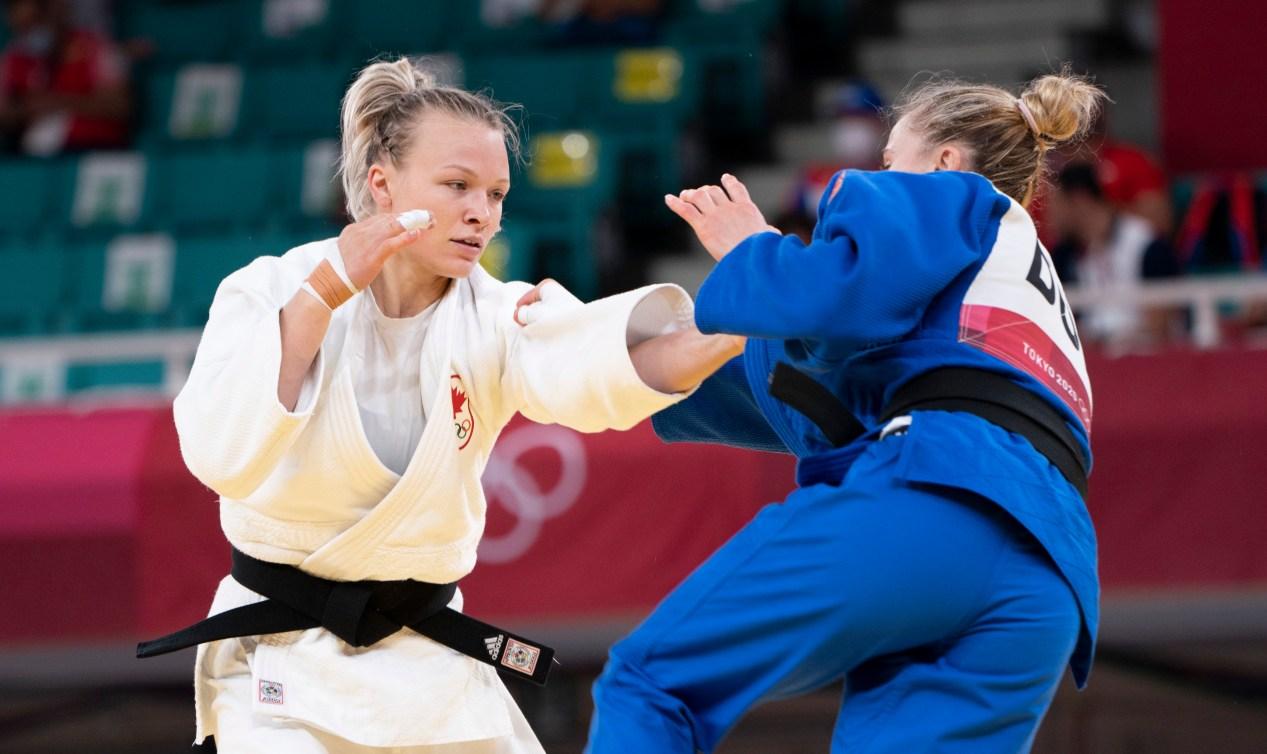 Jessica Klimkait en compétition à Tokyo 2020