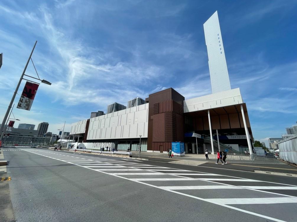 Le centre de conditionnement physique de Tokyo 2020 situé au coeur du village.