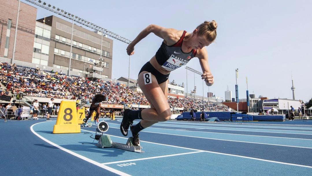 Une sprinteuse en action