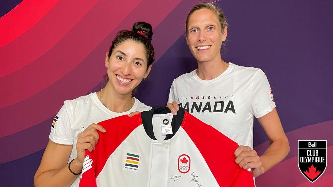 Gagnez la veste de podium d'Équipe Canada signé par Melissa Humana-Paredes et Sarah Pavan