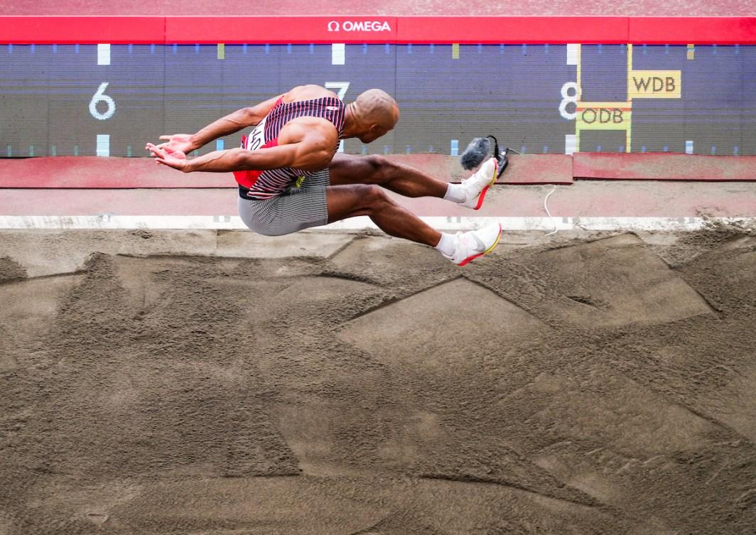 Damian Warner au saut en longueur
