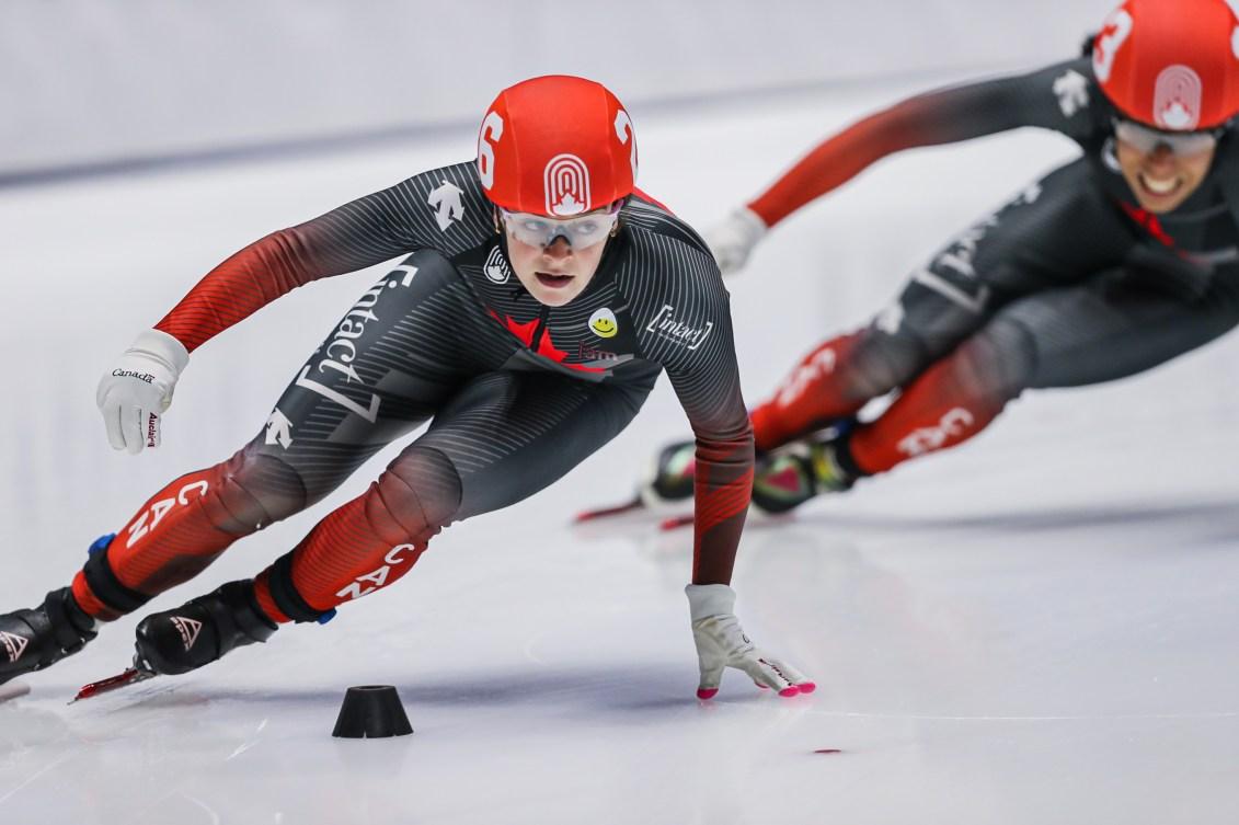 Kim Boutin en train de patiner