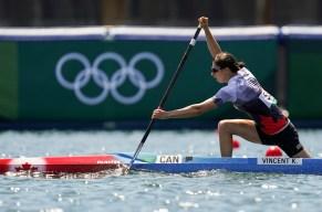 Katie Vincent en action en canoë